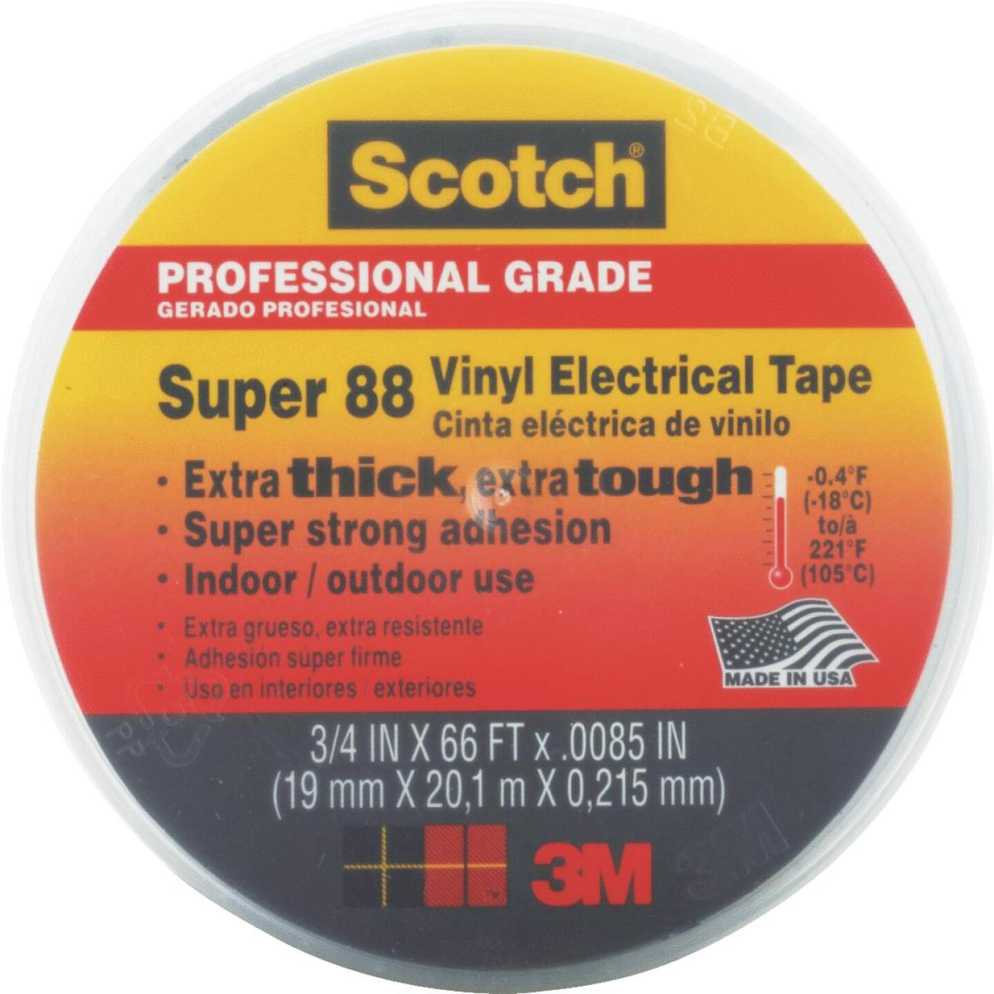 3M Scotch Weather Resistant 3/4 In. x 66 Ft. Electrical Tape Image 1