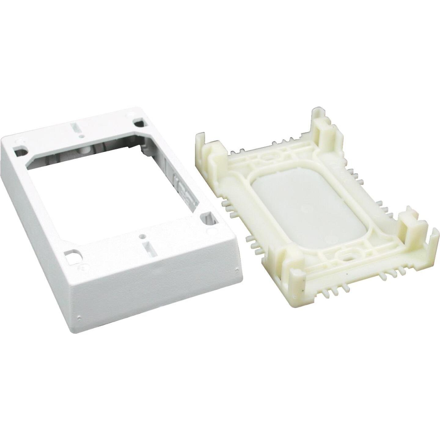 Wiremold White Plastic 1 In. Switch/Outlet Box Image 1