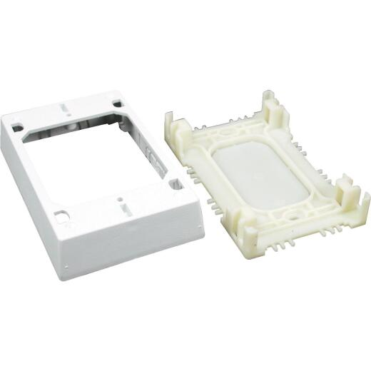 Wiremold White Plastic 1 In. Switch/Outlet Box