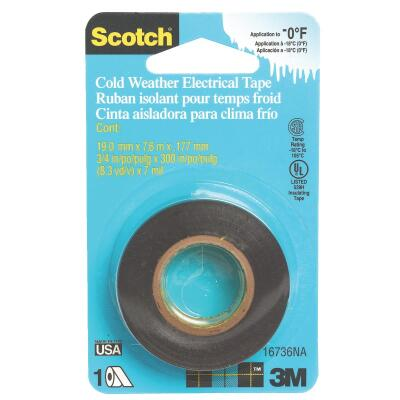 3M Scotch Cold Weather 3/4 In. x 300 In. Electrical Tape