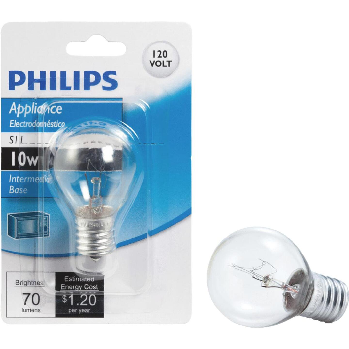Philips 10W Clear Intermediate Base S11 Incandescent Exit Sign Light Bulb Image 1