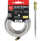 RCA 12 Ft. Gray Quad RG6 Coaxial Cable Image 1