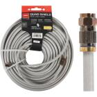 RCA 100 Ft. White RG6U Quad Shield Coaxial Cable Image 1