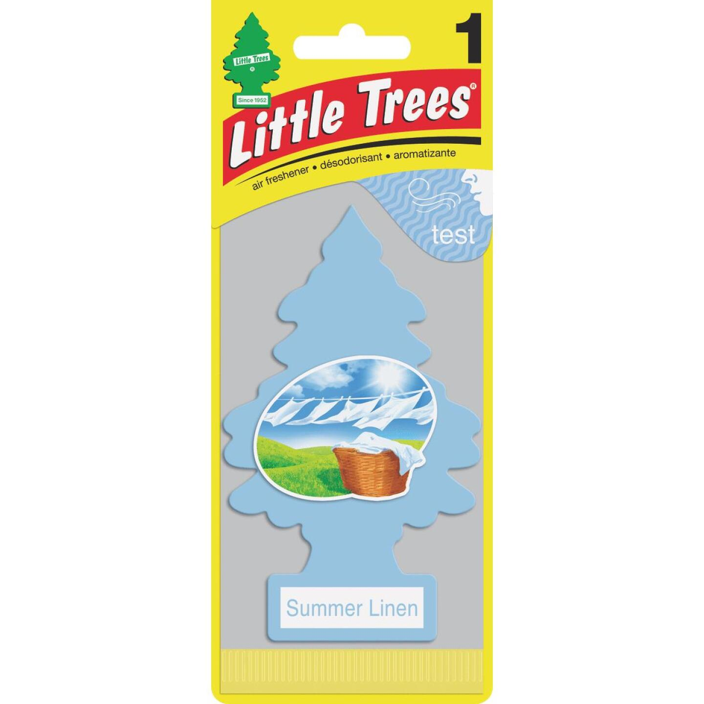 Little Trees Car Air Freshener, Summer Linen Image 1