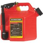 SureCan 2.2 Gal. Plastic Gasoline Fuel Can, Red Image 3