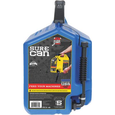 SureCan 5 Gal. Plastic Kerosene Can, Blue
