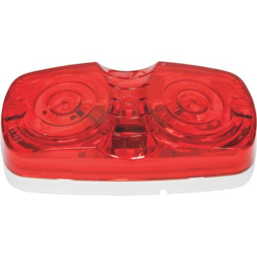 Peterson Low-Profile 12 V. Red Clearance Light