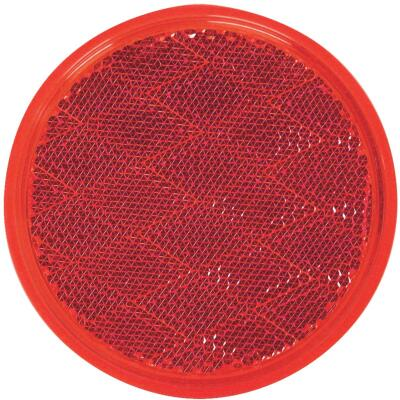 Peterson 3 In. Dia. Round Red Quick-Mount Reflector