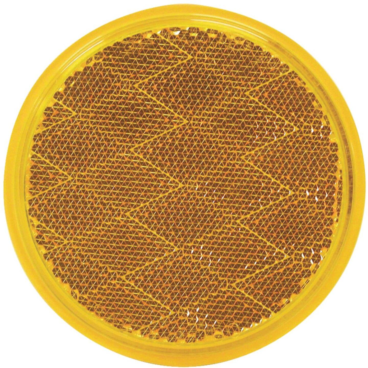 Peterson 3 In. Dia. Round Amber Quick-Mount Reflector Image 1