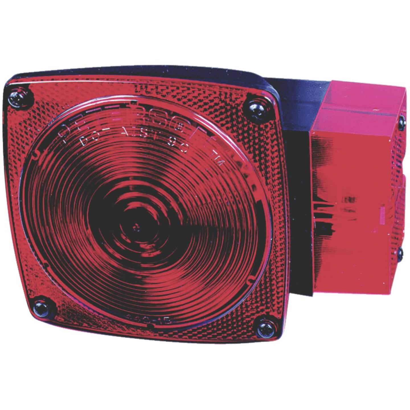 Peterson Square (w/Built-In License Plate Light) Red 5-3/4 In. Stop & Tail Light Image 1