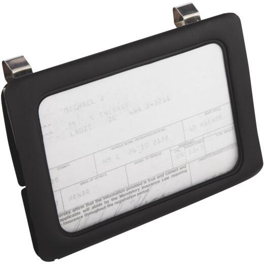 Custom Accessories Clip-On Car Certificate Holder