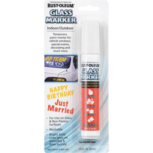 Rust-Oleum 2/3 Oz. White Window Paint Marker