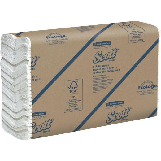 Kimberly Clark Scott C-Fold White Hand Towel (12 Count)