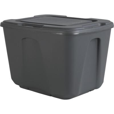 Homz 18 Gal. Gray 4-Way Handle Storage Tote