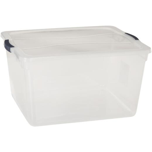 Rubbermaid 71 Qt. Clear Clever Store Latching Lid Storage Tote