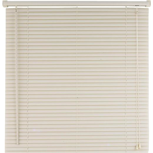 Home Impressions 23 In. x 42 In. Alabaster Vinyl Light Filtering Corded Mini-Blinds