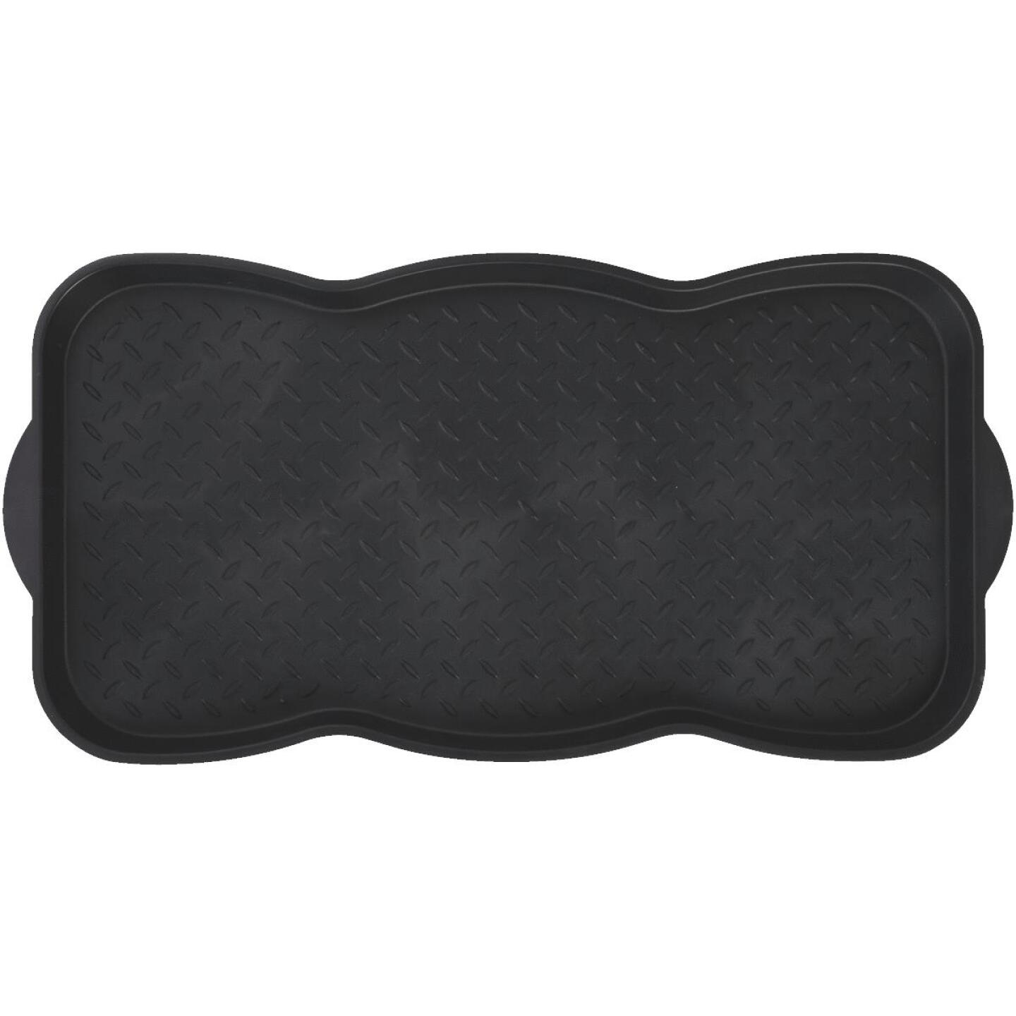 15x30 Black Recycled Plastic Contoured Boot Tray Image 2