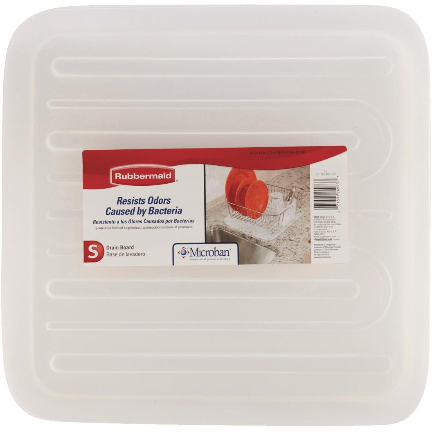 Rubbermaid 14.38 In. x 15.38 In. Clear Sloped Drainer Tray Image 2