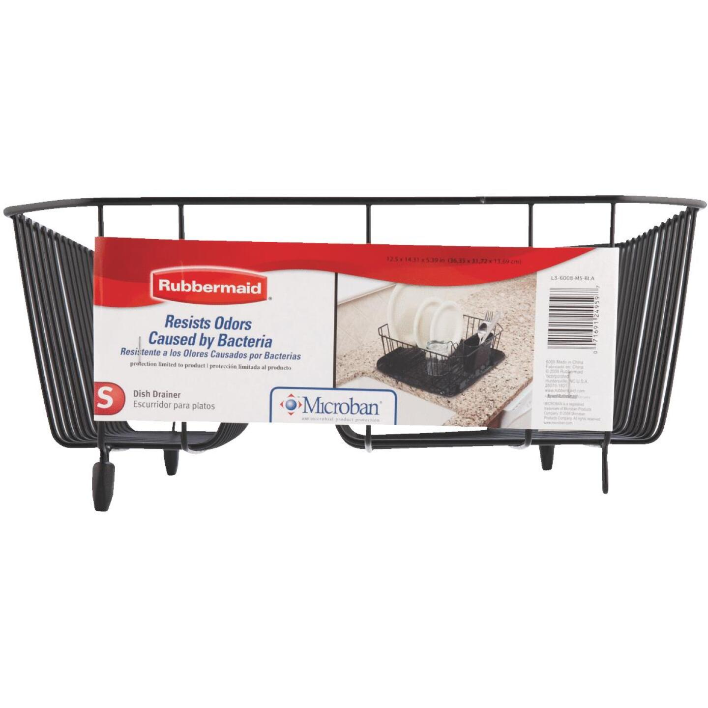 Rubbermaid 12.49 In. x 14.31 In. Black Wire Sink Dish Drainer Image 3