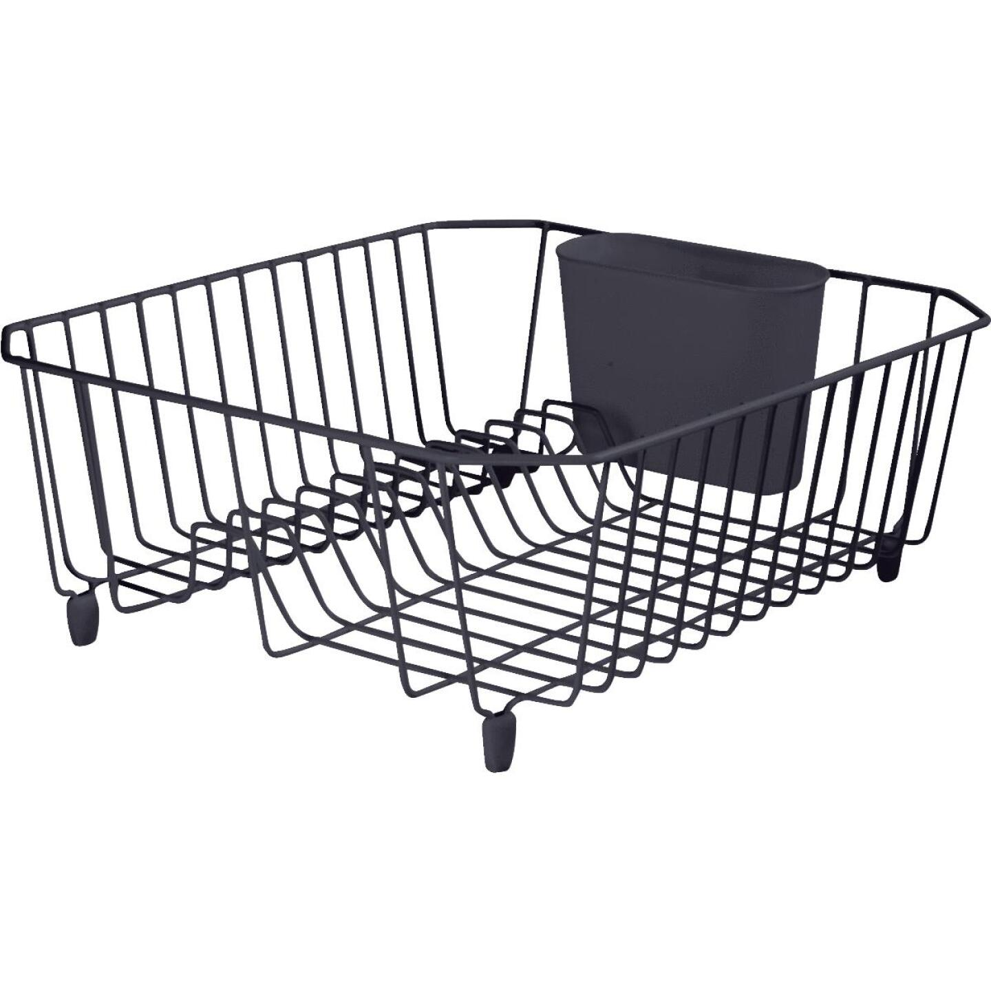 Rubbermaid 12.49 In. x 14.31 In. Black Wire Sink Dish Drainer Image 1