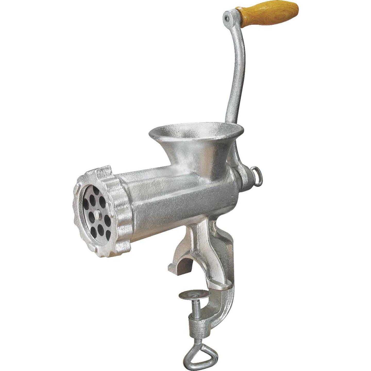 Weston #10 Deluxe Manual Heavy-Duty Meat Grinder (Tinned) Image 1