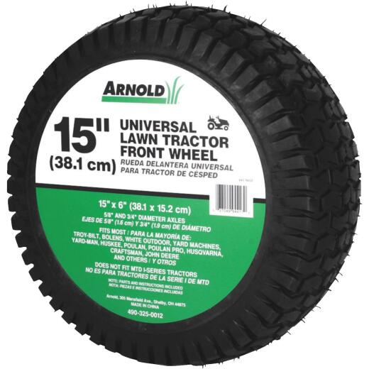 Arnold 15 In. Universal Lawn Tractor Mower Wheel