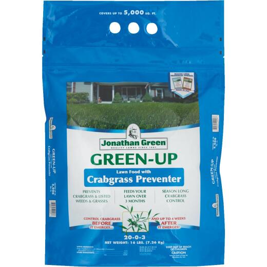 Jonathan Green Green-Up 15 Lb. 5000 Sq. Ft. 22-0-3 Lawn Fertilizer with Crabgrass Preventer