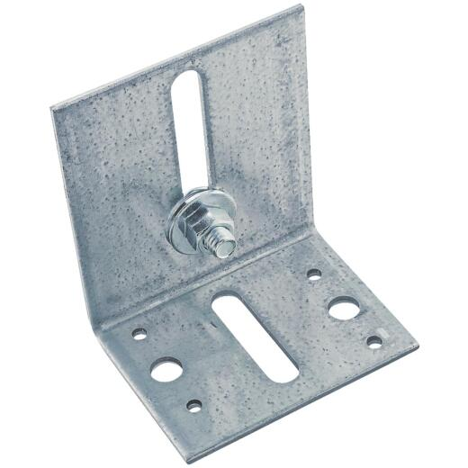 National Galvanized Guide Box/Round Rail Barn Door Bracket