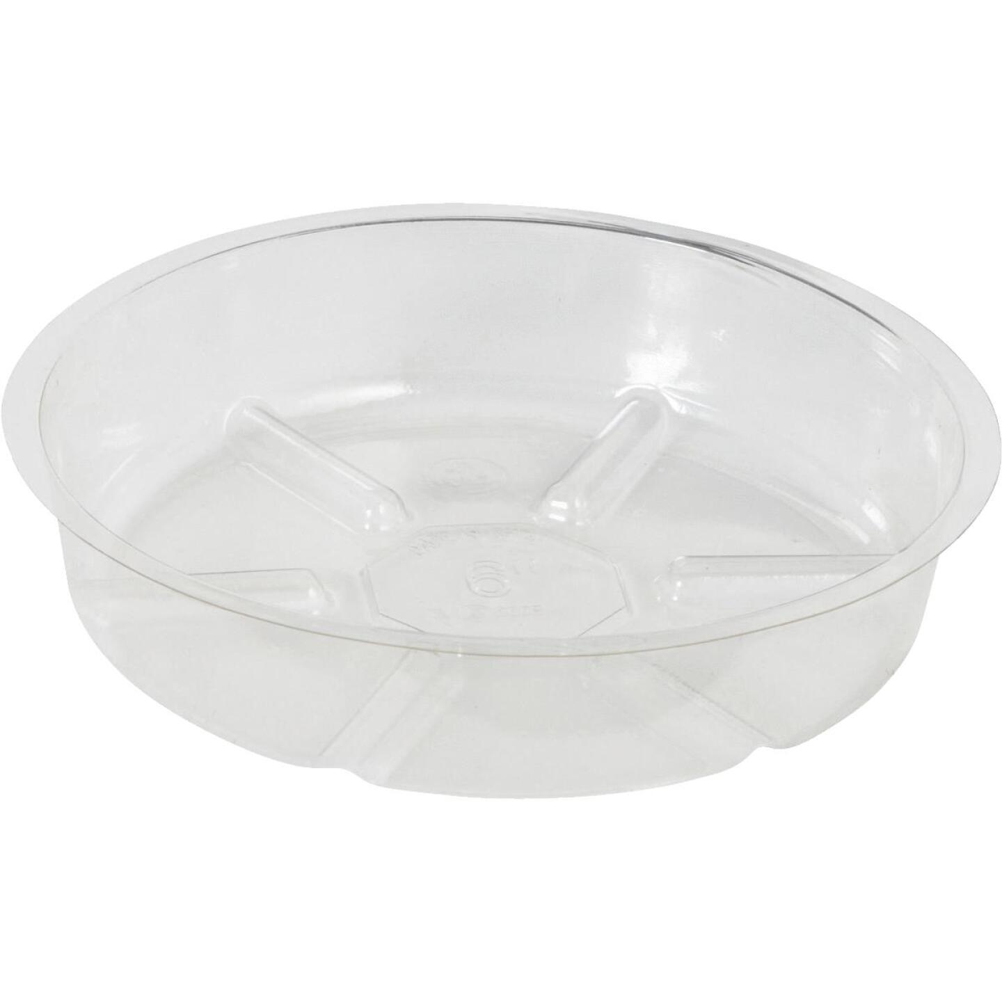 Best Garden 6 In. Clear Vinyl Flower Pot Saucer Image 1
