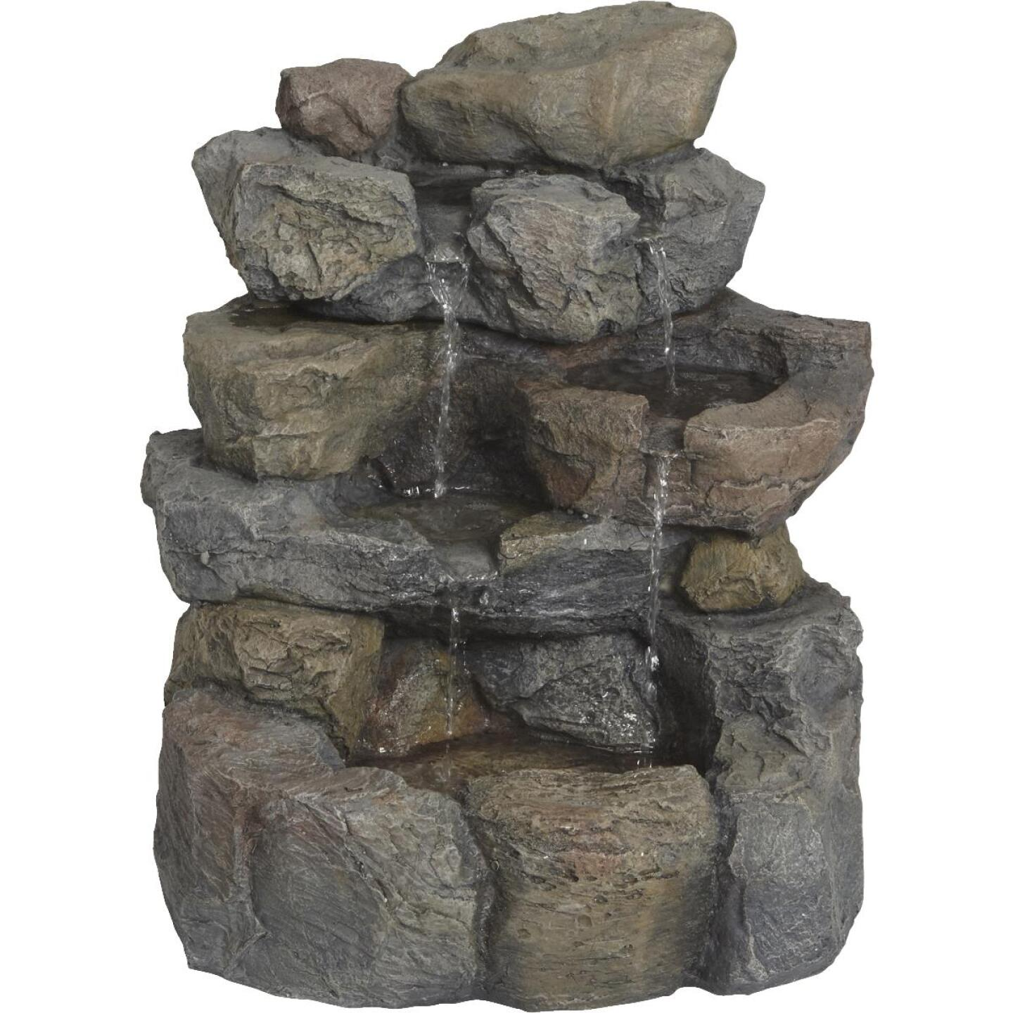 Best Garden 17 In. W. x 20 In. H. x 16 In. L. Resin Landscape Rock Fountain Image 2