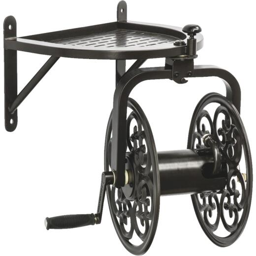 Liberty Garden Navigator 125 Ft. x 5/8 In. Bronze Steel Wall Mount Rotating Hose Reel