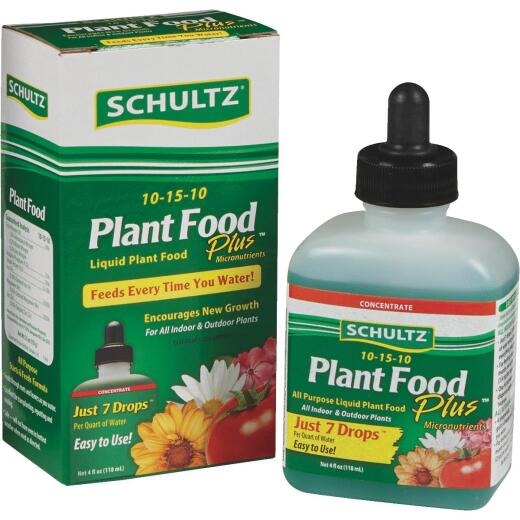 Schultz 4 Oz. Concentrate 10-15-10 Liquid Plant Food Plus