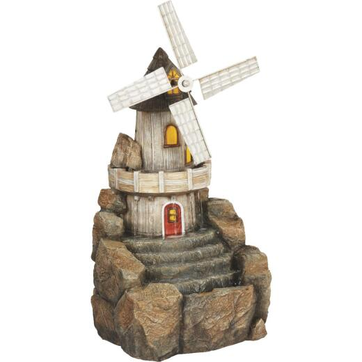 Best Garden 11.8 In. W. x 25 In. H. x 15.3 In. L. Resin Windmill Fountain