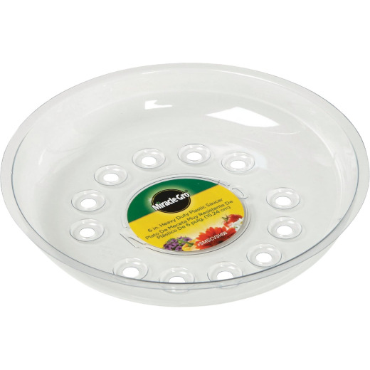 Miracle-Gro 6 In. Clear Plastic Flower Pot Saucer