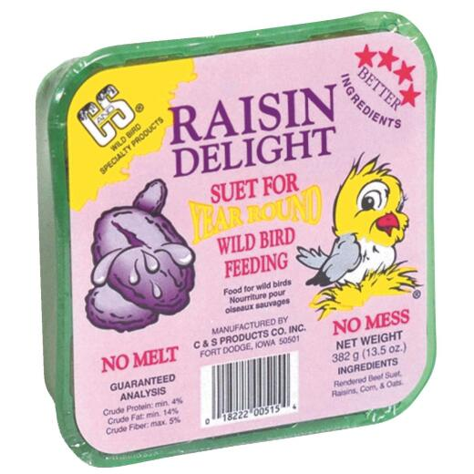 C&S 13.5 Oz. Raisin Delight Suet