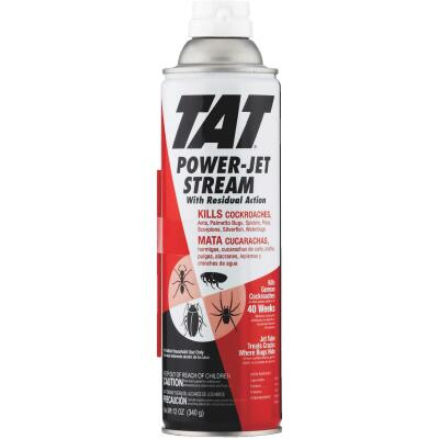 TAT 12 Oz. Aerosol Spray Roach Killer with Power-Jet Stream