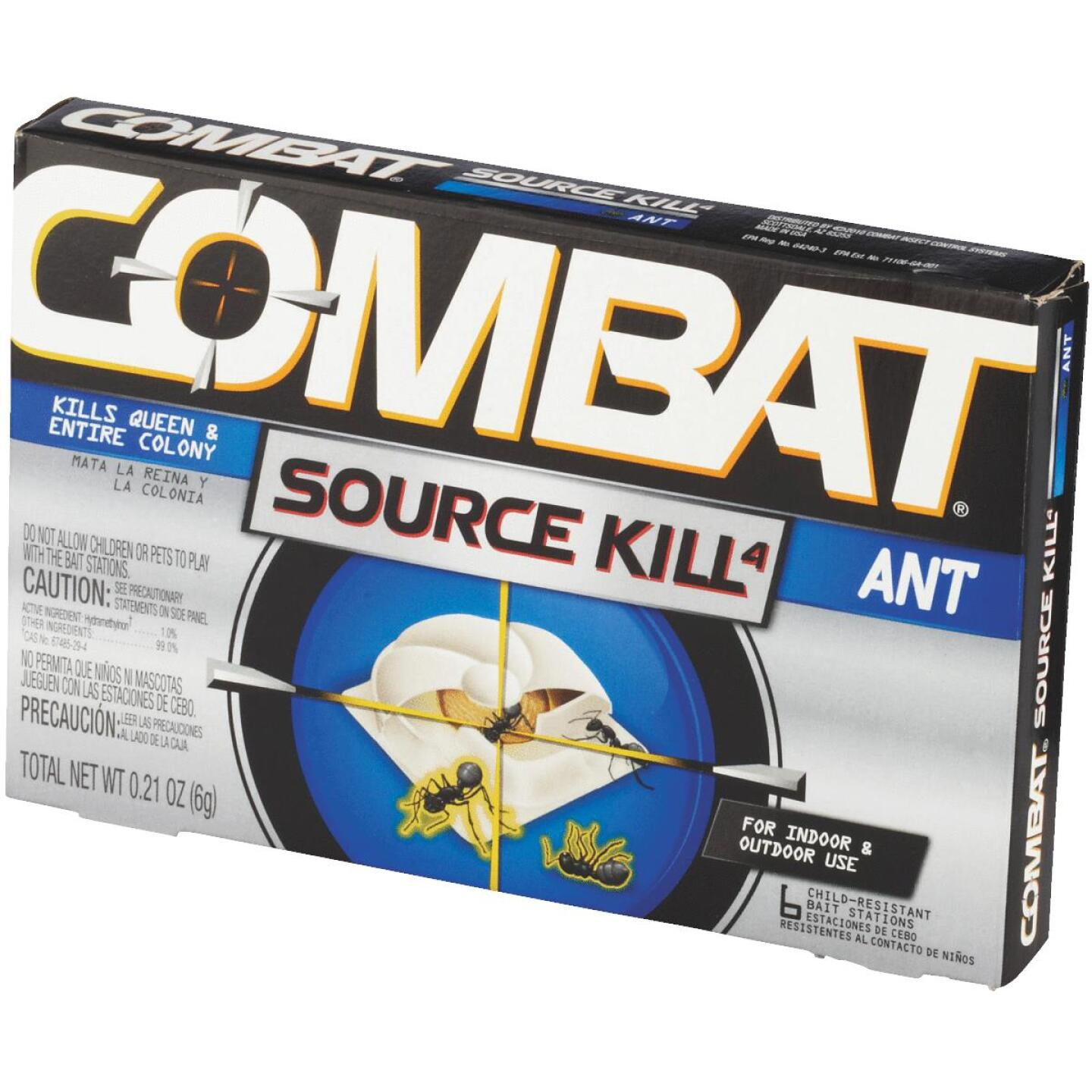Combat Source Kill 0.21 Oz. Solid Ant Bait Station (6-Pack) Image 3