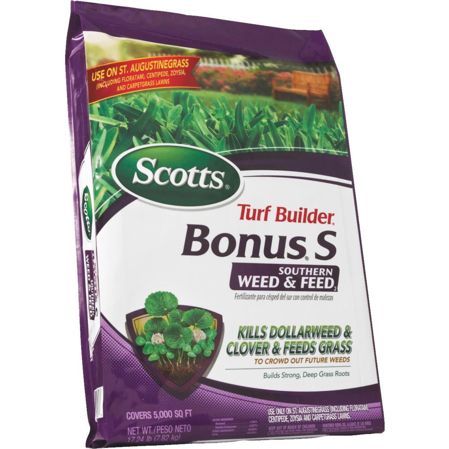 Scotts Turf Builder Bonus S Southern Weed & Feed 18.62 Lb. 5000 Sq. Ft. 29-0-10 Lawn Fertilizer with Weed Killer Image 5