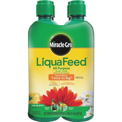 Miracle-Gro LiquaFeed 16 Oz. Ea. 12-4-8 Ready To Use Liquid Plant Food