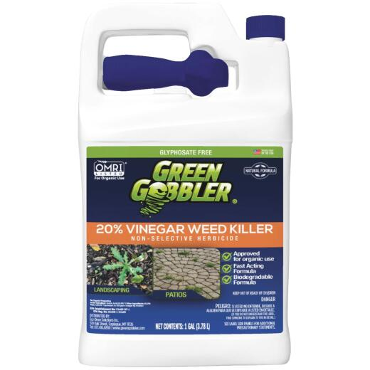 Green Gobbler 1 Gal. Ready To Use Trigger Spray 20% Vinegar Weed Killer