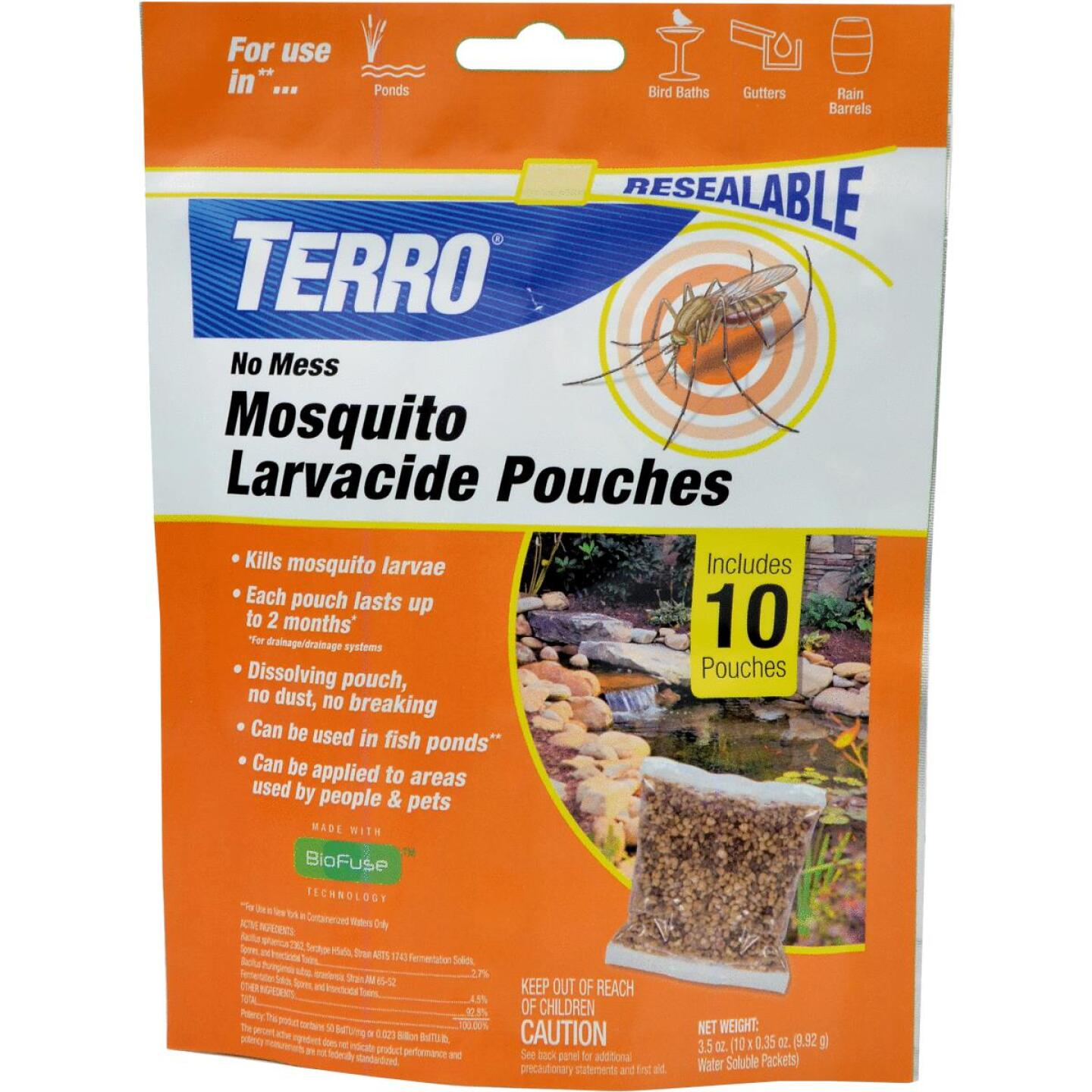 Terro No Mess Ready To Use Pouch Mosquito Larvacide Killer (10-Pack) Image 1