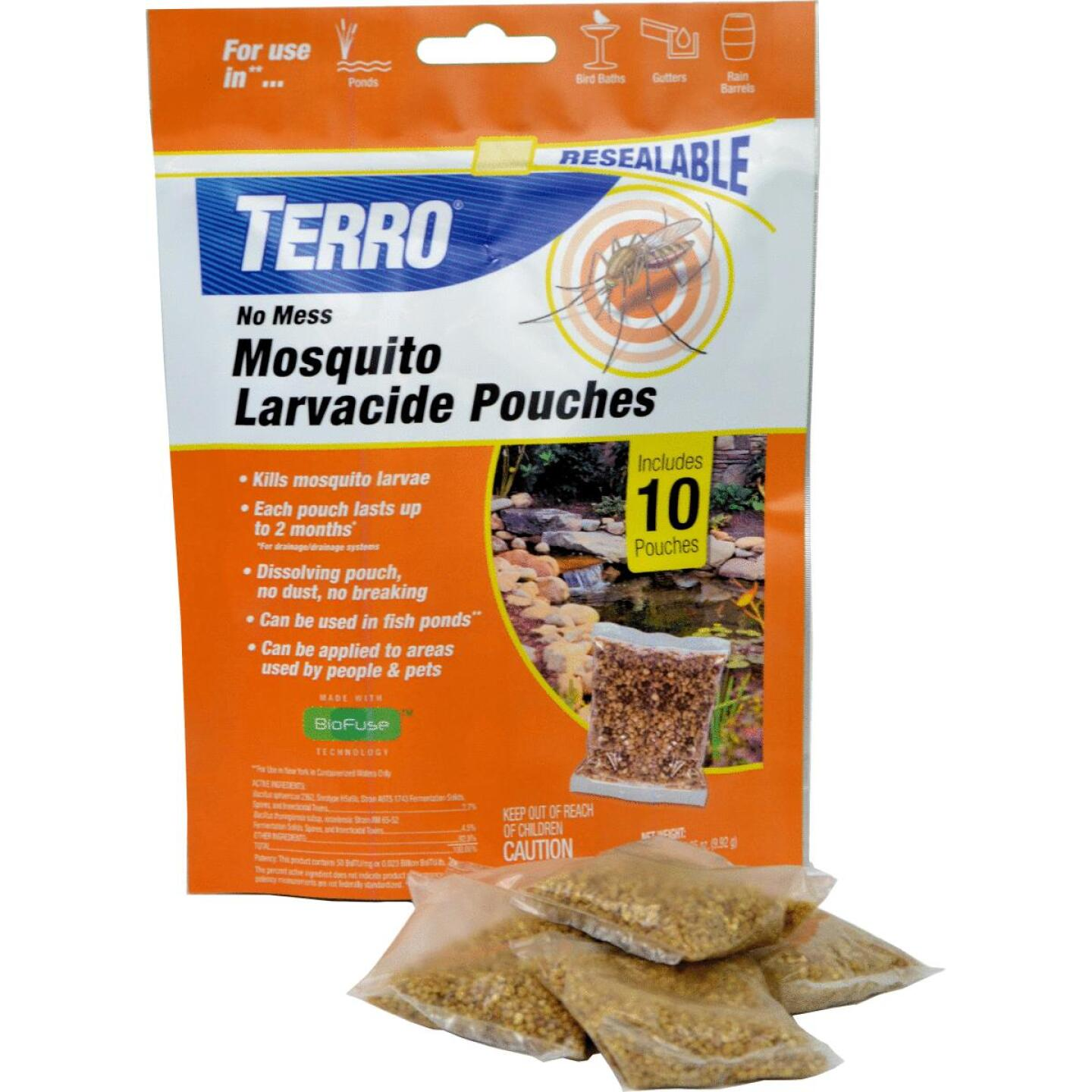 Terro No Mess Ready To Use Pouch Mosquito Larvacide Killer (10-Pack) Image 2
