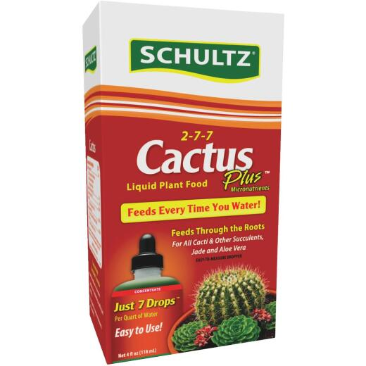 Schultz Cactus Plus 4 Oz. Concentrate 2-7-7 Liquid Plant Food