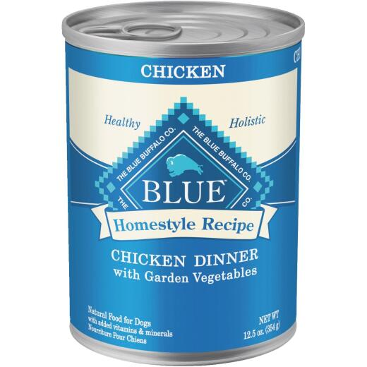 Blue Buffalo Homestyle Recipe Chicken & Garden Vegetables Adult Wet Dog Food, 12.5 Oz.