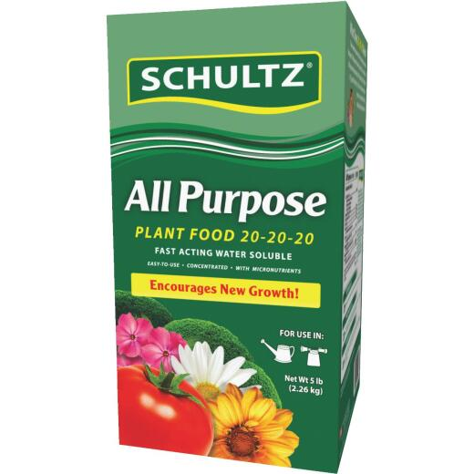 Schultz 5 Lb. 20-20-20 All Purpose Fast Acting Water Soluble Plant Food