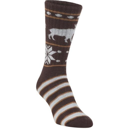 Hiwassee Trading Company Women's Medium Moosin Up Novelty Crew Sock
