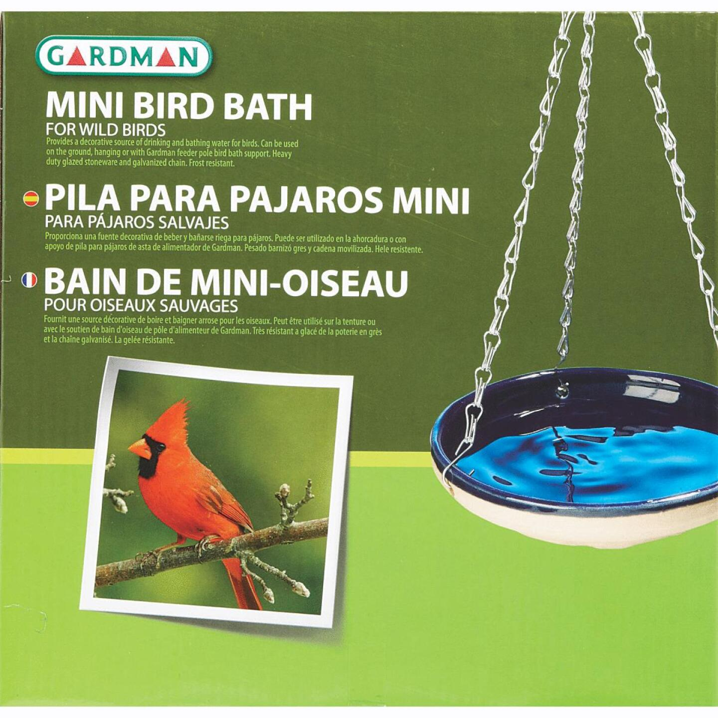 Gardman Resin Blue Bird Bath Image 2