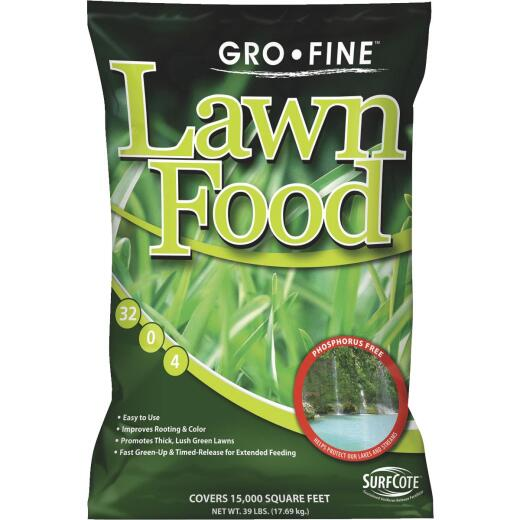 Gro-Fine 39 Lb. 15,000 Sq. Ft. 32-0-4 Phosphorus Free Lawn Fertilizer