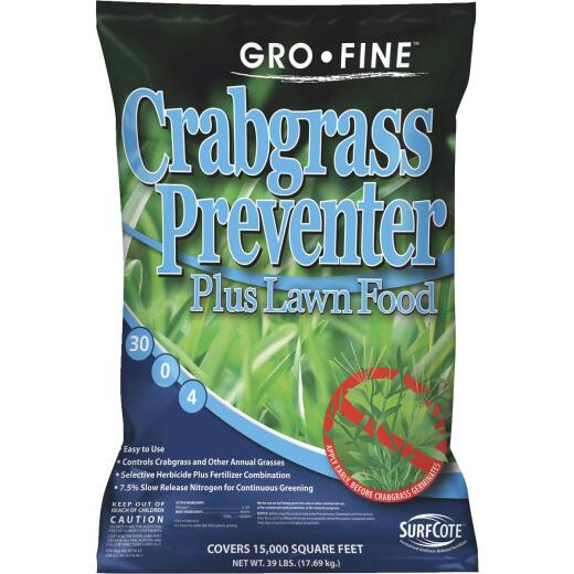 Gro-Fine 39 Lb. 15,000 Sq. Ft. 30-0-4 Lawn Fertilizer with Crabgrass Preventer