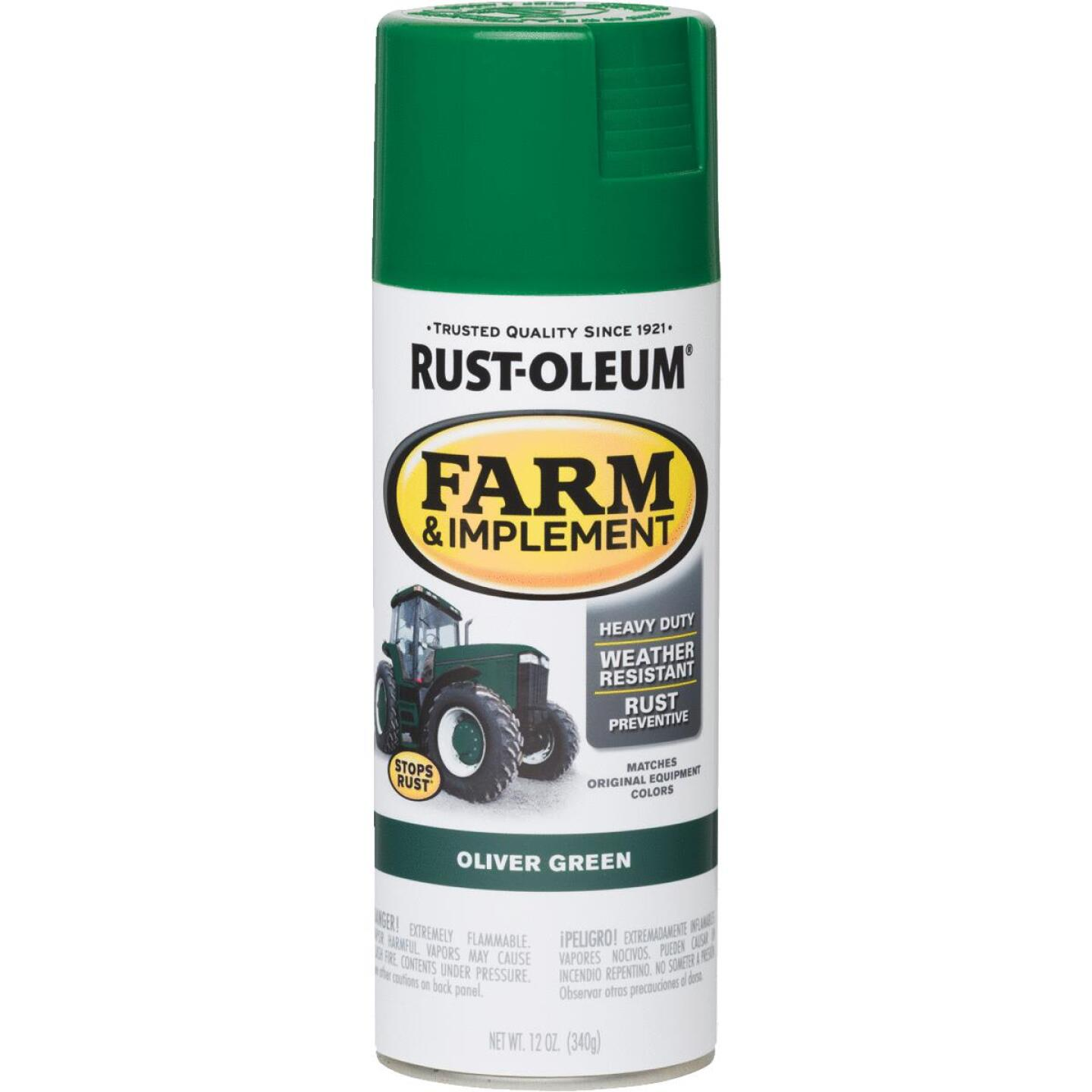 Rust-Oleum 12 Oz. Oliver Green Farm & Implement Spray Paint Image 1